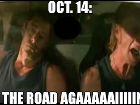 Oct. 14: On the road agaaaaaiiiiinn!