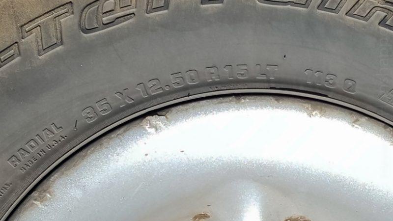 Ca fait quand même du pneu de 32 centimètres de large!