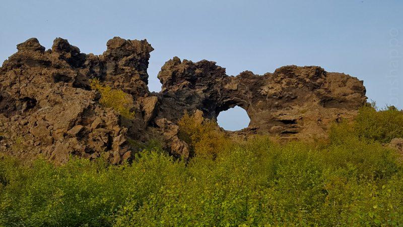 Des structures en pilier à Dimmuborgir