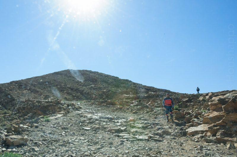 Montée vers le col de Belkacem