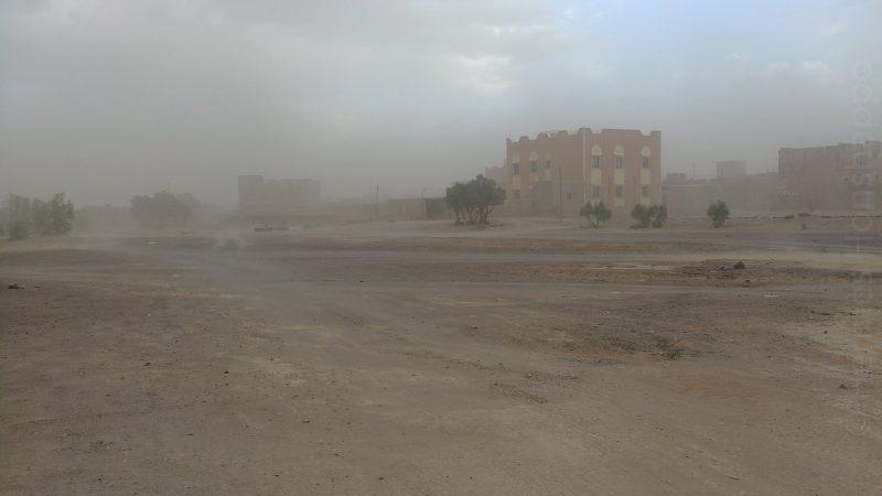Tempête de sable à Merzouga